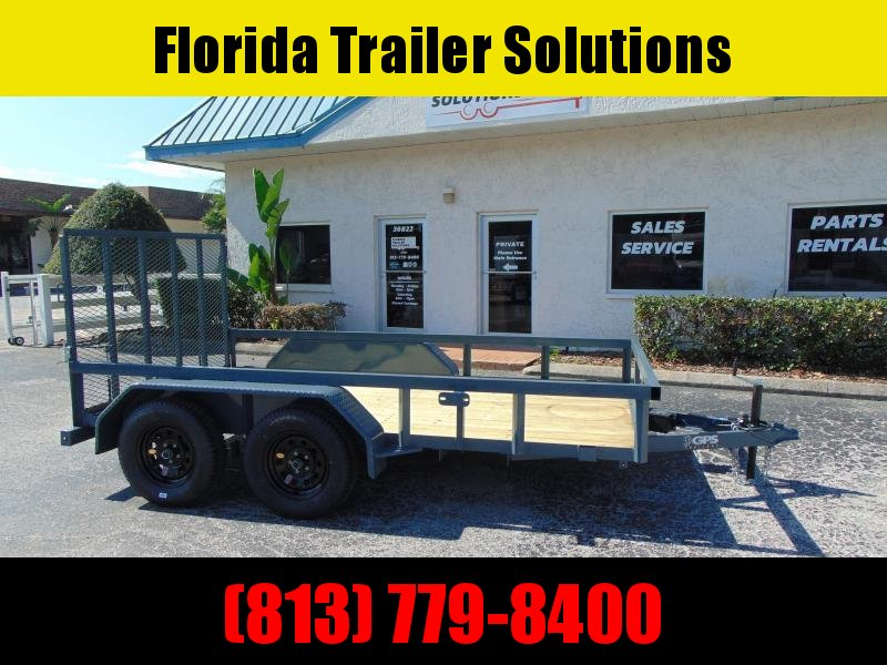 New GPS Trailers 6X12 Tandem Axle 7k Utility Trailer