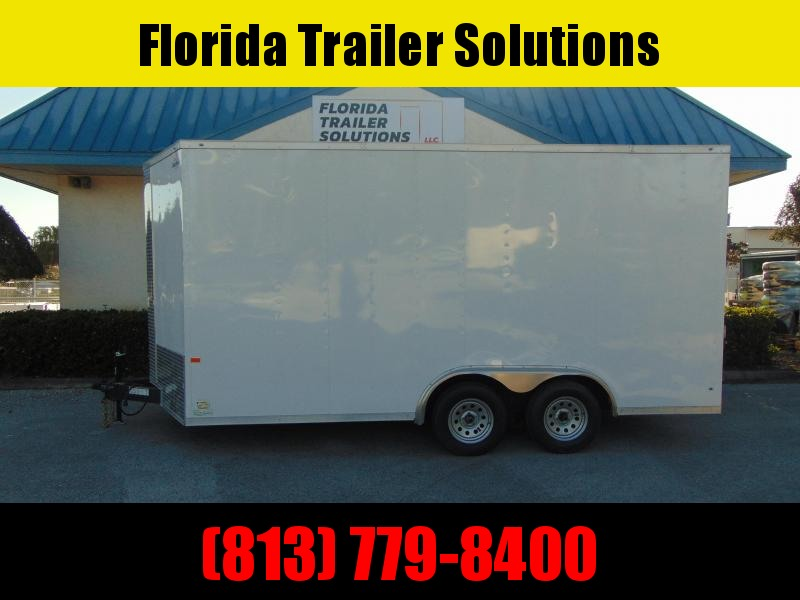 "New Rock Solid Cargo 8X16TA 7k Enclosed Cargo Trailer w/12"" Additional Height"
