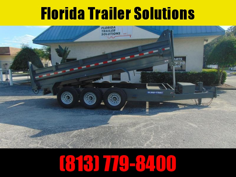 2021 Sure-Trac 82X16 Low Profile Tri-Axle 21K Dump Trailer