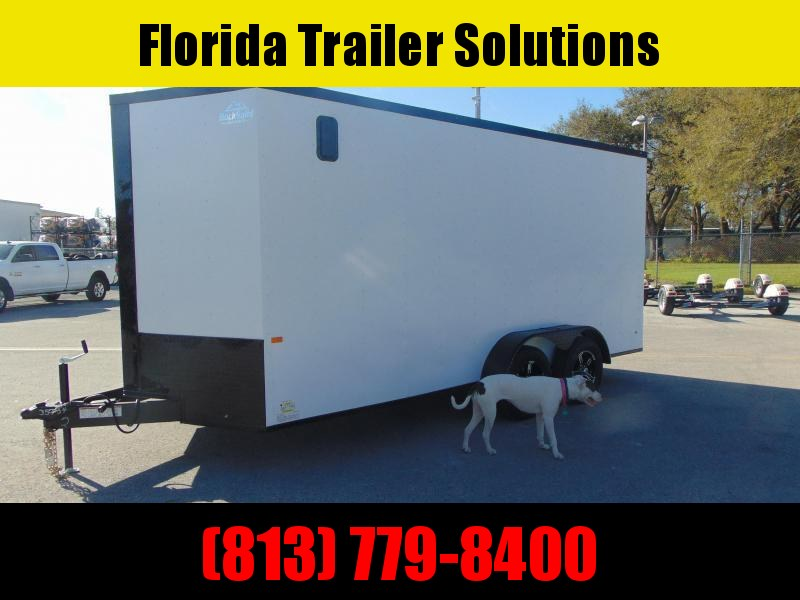 New Rock Solid Cargo 7X16TA 7k Enclosed Cargo Trailer w/7' Interior Height and Blackout Package