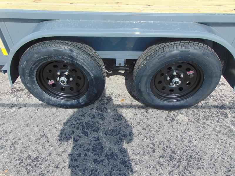 New Rhino Trailers 6X20 Tandem Axle 7k Tube Top Utility Trailer