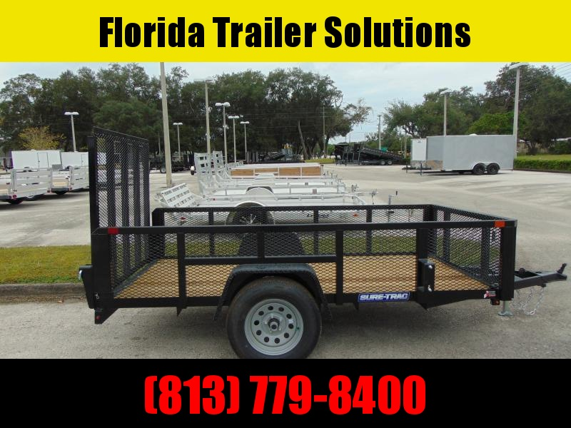 New Sure-Trac 5X10 Tube Top 3k Utility Trailer w/2' Mesh Sides