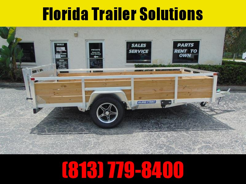 New Sure-Trac 6X12 Aluminum Utility Trailer w/ 3 Board Sides