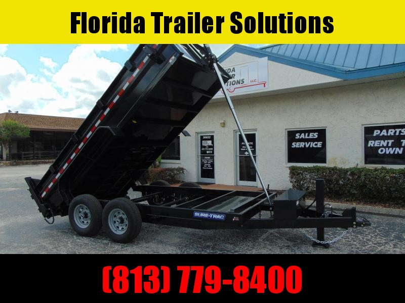 New Sure-Trac 82X14 14k Telescopic Dump Trailer w/Hydraulic Jack
