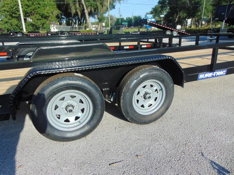 2021 Sure-Trac 7X18 7k  Tandem Axle Tube Top Utility Trailer