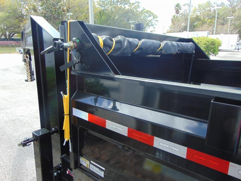 New Sure-Trac 82X16 HD Gooseneck Low Profile Tri-Axle 21K Dump Trailer