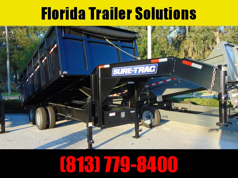 2021 Sure-Trac 82X16 HD Gooseneck 25.9K Dump Trailer w/4' Sides