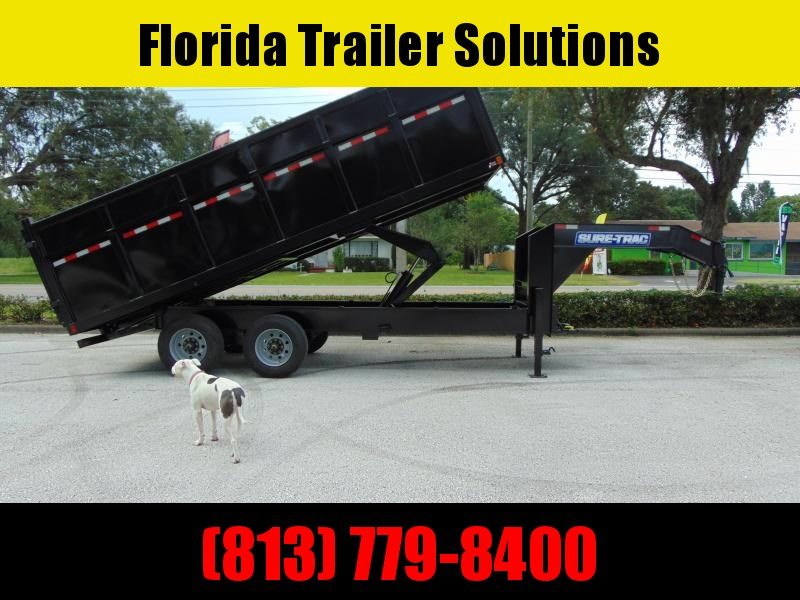 2021 Sure-Trac 8X16 HD Gooseneck Dump Trailer