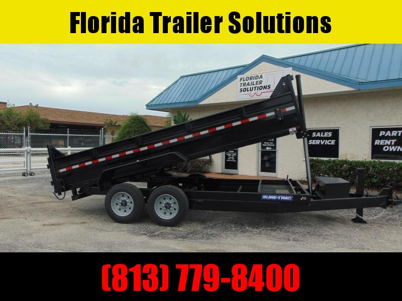 New Sure-Trac 82X14 16k Telescopic Dump Trailer w/Hydraulic Jack