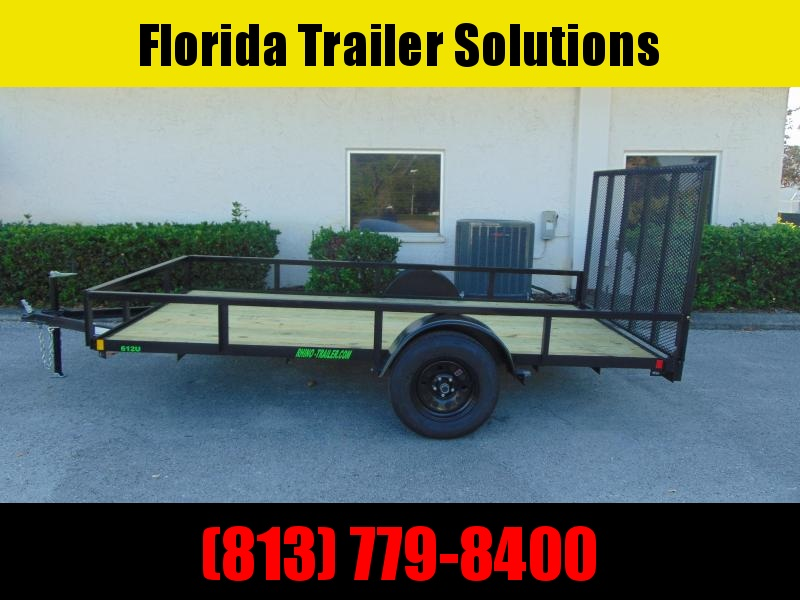 New Rhino Trailers 6X12 Single Axle Tube Top Utility Trailer