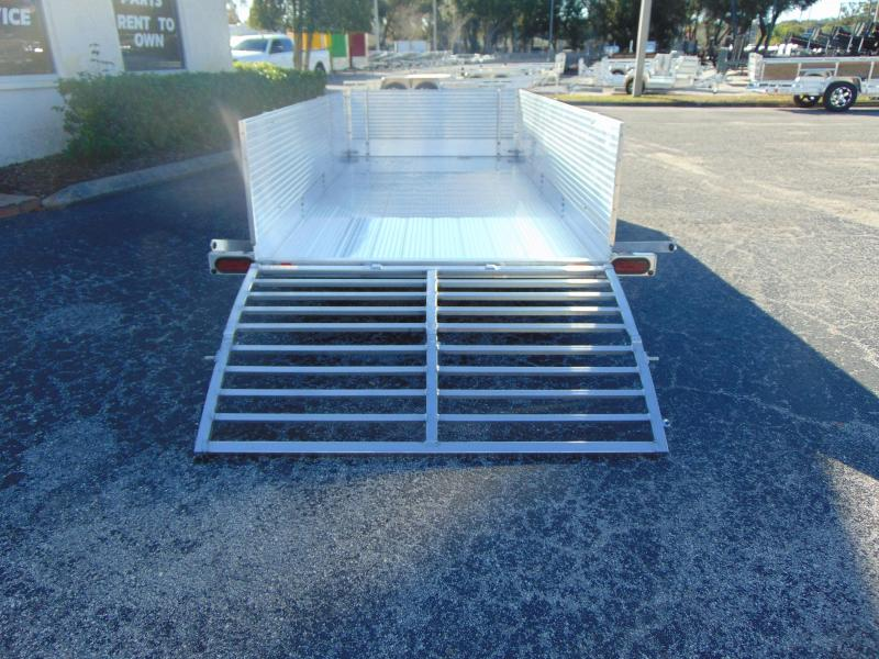 New Bear Track 65x144 All Aluminum Utility Trailer w/Solid Sides and Front Rockguard