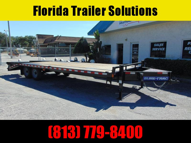 Pre-Owned Sure-Trac 8.5X20+5 HD LowProfile Beavertail Deckover 17.6k Equipment Trailer
