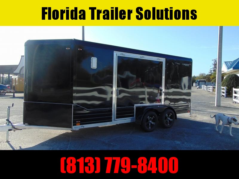 """CLEARANCE! New Legend Mfg 7X16 DVN All Aluminum w/Black Out Enclosed Cargo Trailer w/6"""" Additional Height"""