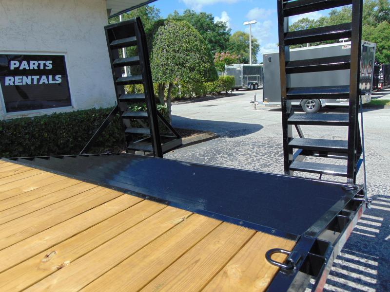 New Sure-Trac 8.5X18 plus 4 - 15k Beavertail Deckover Equipment Trailer