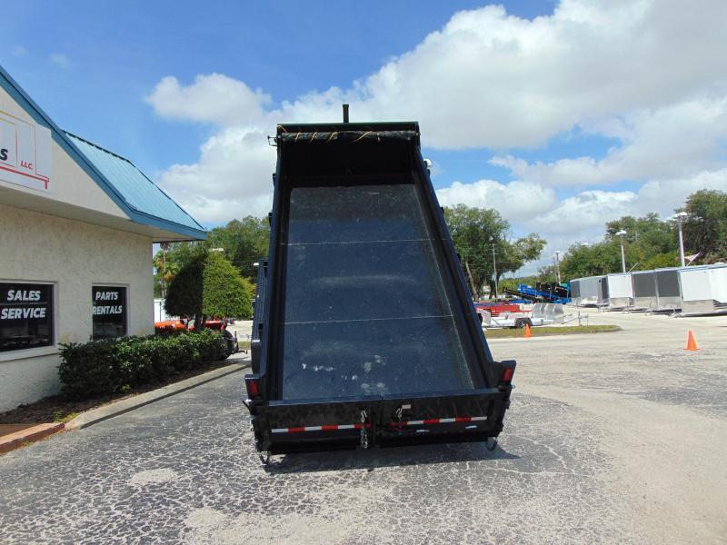 New Sure-Trac 82X16 16K  Low Profile Telescopic Dump Trailer