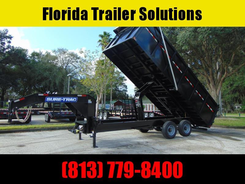2021 Sure-Trac 8X20 Gooseneck 25.9k Dump Trailer w/Electric Tarp