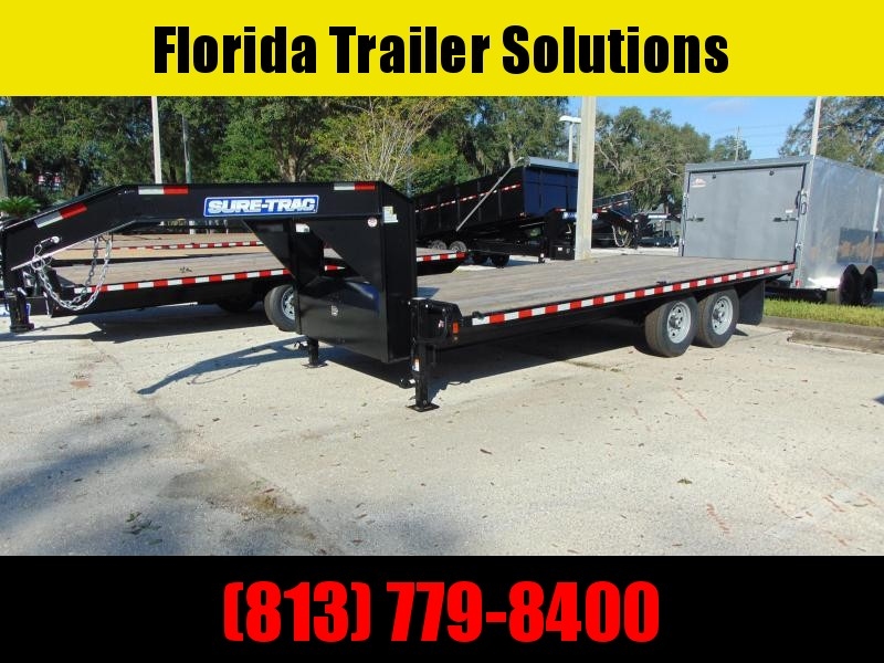 New Sure-Trac 8.5X18 15k Standard Duty Flatbed Deckover Equipment Trailer