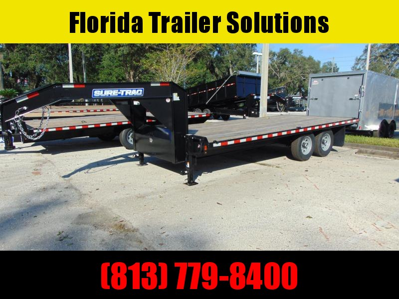 New Sure-Trac 8.5X18 15k Standard Duty Flatbed Deckover Equipment Trailer