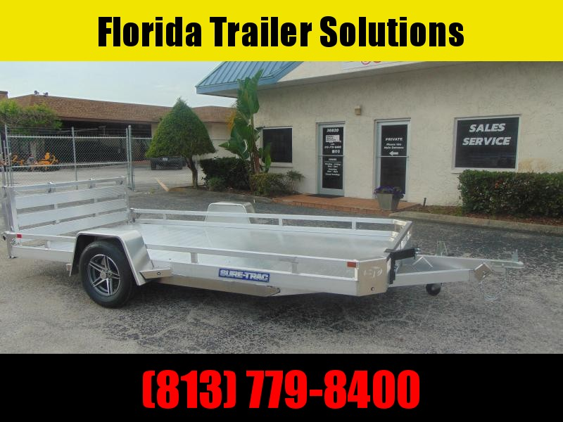 2021 Sure-Trac 7X14 All Aluminum 3k Low Side Utility Trailer