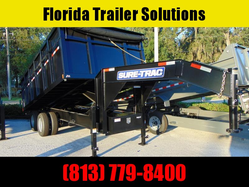 Pre-Owned 2021 Sure-Trac 82X16 HD Gooseneck 25.9K Dump Trailer w/4' Sides