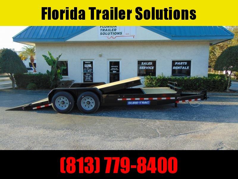 New Sure-Trac 7X16+4 Tilt Bed 14K Equipment Trailer w/Hydraulic Jack