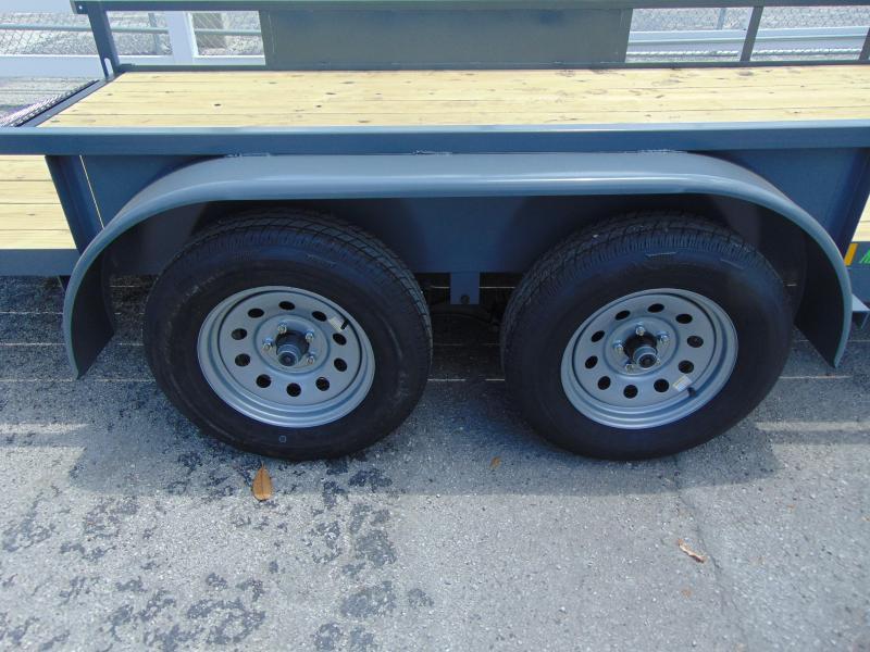 New Rhino Trailers 7X14 Tandem Axle 7k Tube Top Utility Trailer