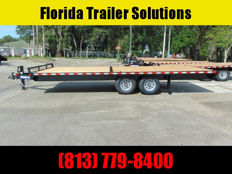 New Sure-Trac 8.5x22 Flat Deck Deckover Equipment Trailer