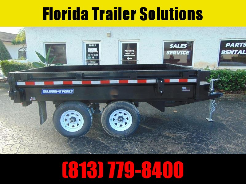 New Sure-Trac 6X10 Deckover 7k Dump Trailer