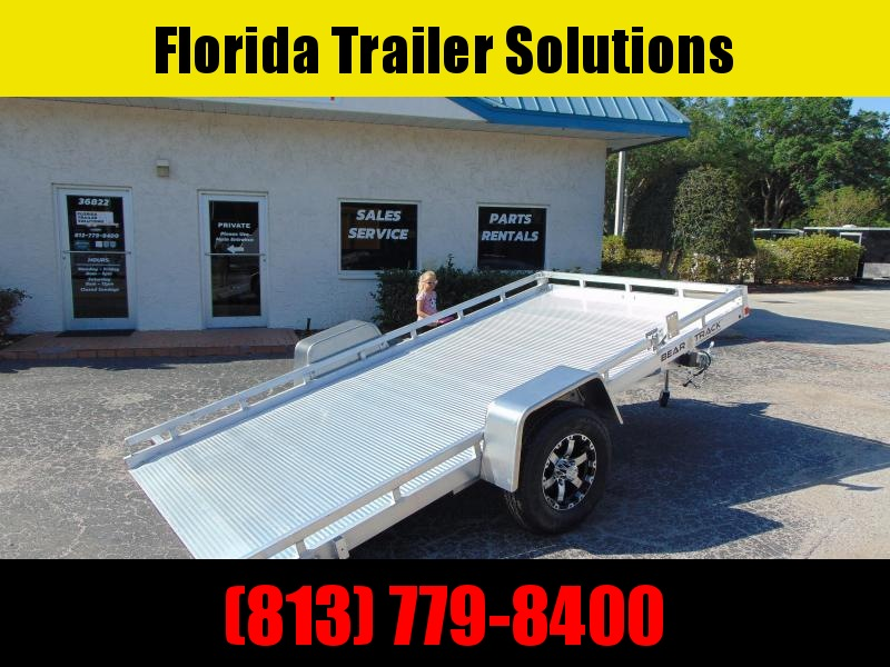 New Bear Track 79x152 All Aluminum Tilt Utility Trailer w/Brakes