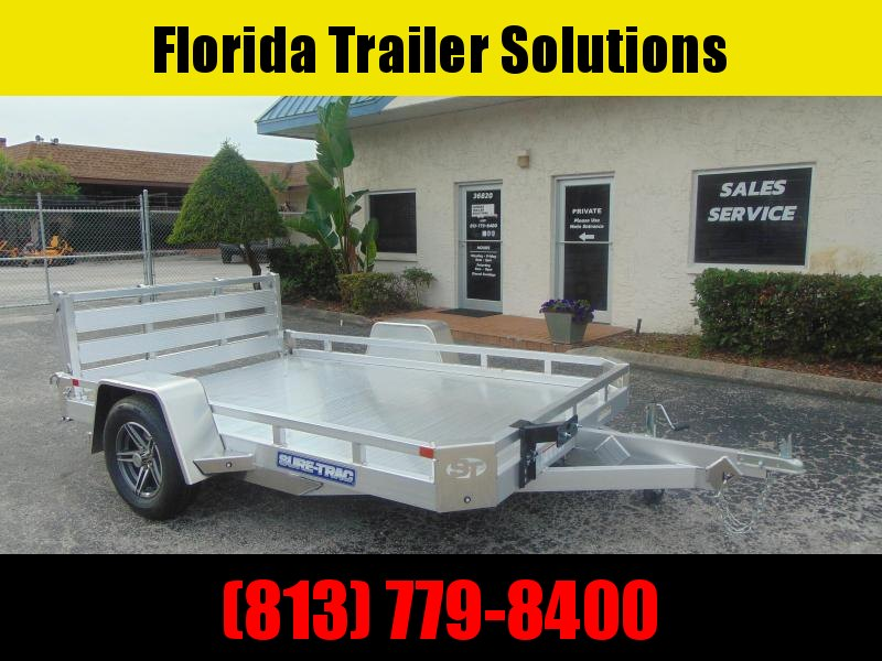 New Sure-Trac 7X10 3K All Aluminum Low Side Utility Trailer