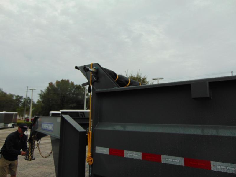 New Sure-Trac 82X16 21K-4ft Sides-Gooseneck Tri-Axle Telescopic Dump Trailer