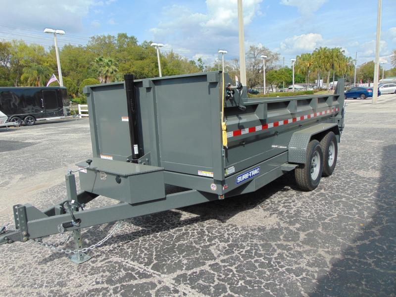 New Sure-Trac 82X14 Low Profile 14k Telescopic Dump Trailer w/Hydraulic Jack