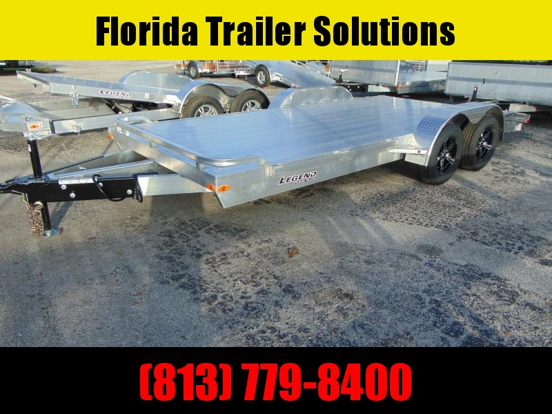 New Legend Mfg 7x18 All Aluminum 7k Open Car Hauler