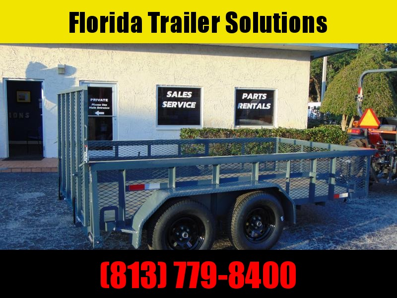 New GPS Trailers 6X12 Tandem Axle 2' Mesh 7k Utility Trailer