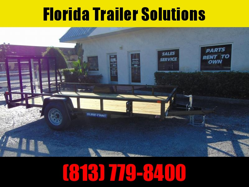 New Sure-Trac 7X14 Tube Top 5k Utility Trailer w/Brakes