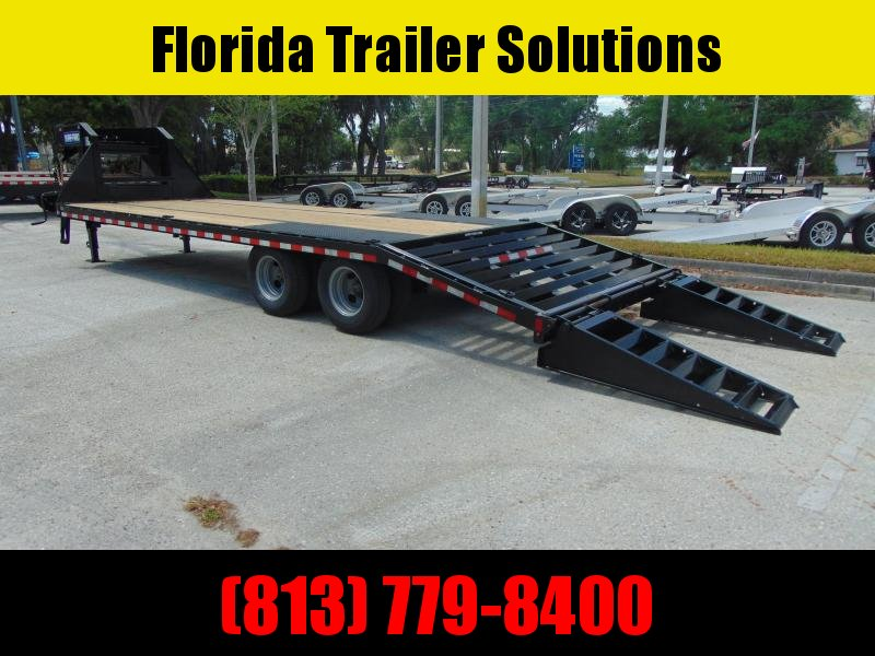 New Sure-Trac 8.5X20+5 HD LowPro Gooseneck Deckover 25.9k Equipment Trailer