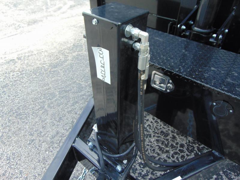 New Sure-Trac 82x12 Low Profile 14k Telescopic Hoist Dump Trailer w/4' Sidewalls