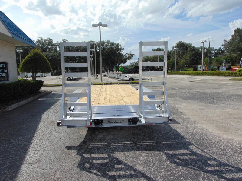 2021 Sure-Trac 7X18+2 Aluminum 14k Equipment Trailer