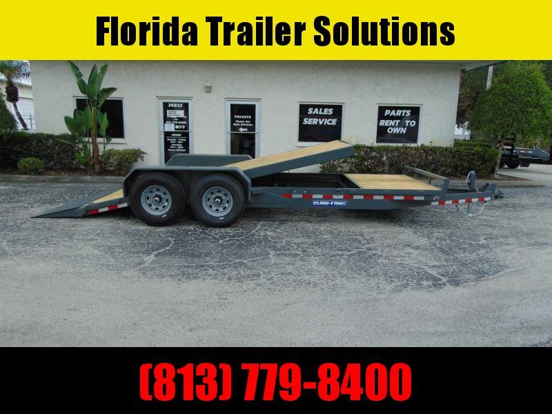 New Sure-Trac 7X16+4 Tilt Bed 14K Equipment Trailer