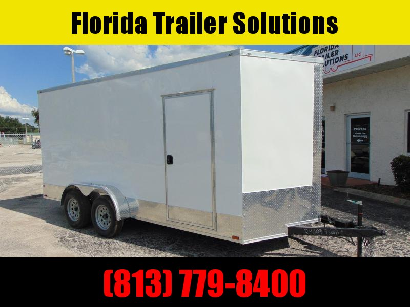 """New Quality Cargo 7X16TA Enclosed Cargo Trailer w/9"""" Addt'l Height"""