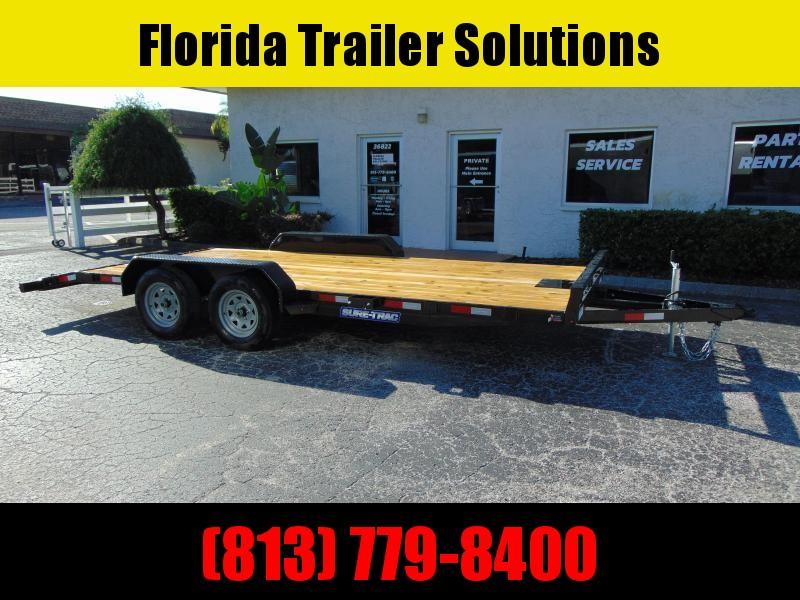 New Sure-Trac 7X18 (16+2) Wood Deck 7k Car Hauler