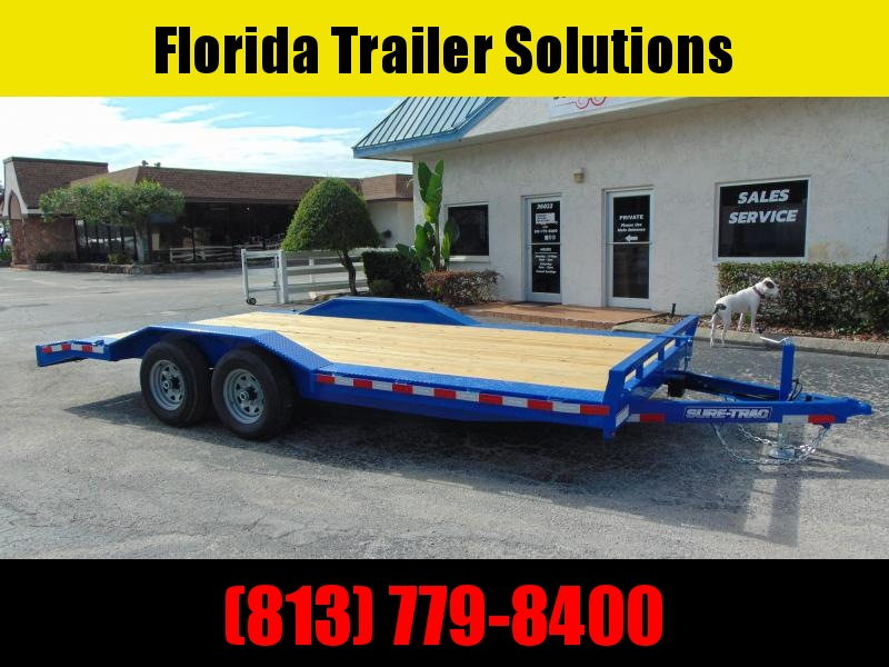 2020 Sure-Trac 8.5X18 Drive Over Fender 10k Equipment Trailer