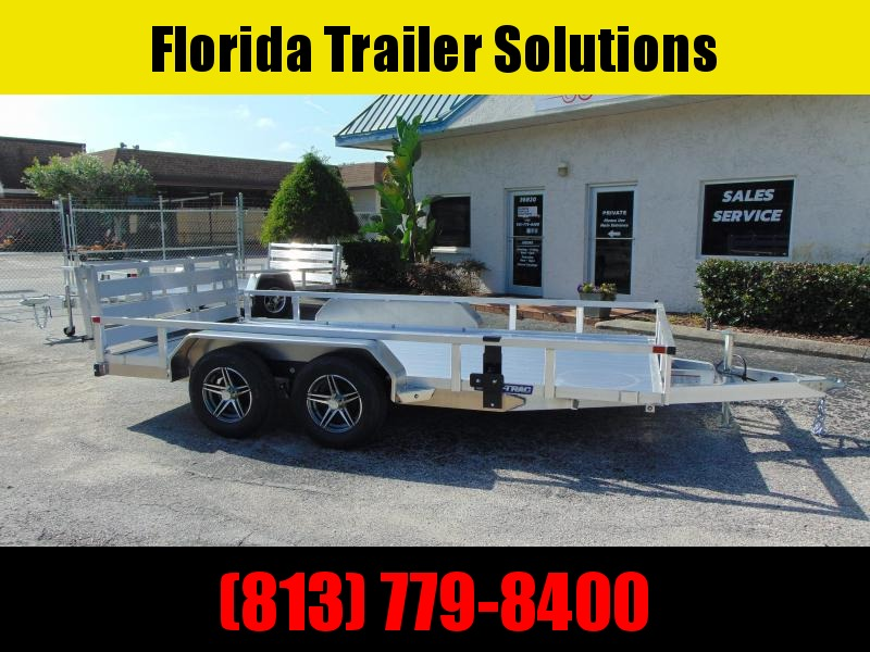 2021 Sure-Trac 7X14 Tandem Axle 7k Aluminum Utility Trailer w/Aluminum Deck