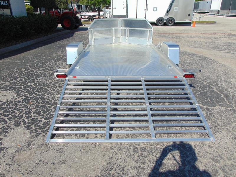 New Bear Track All Aluminum 76x132 Motorcycle Trailer