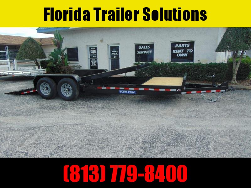 New Sure-Trac 7X18+4 Tilt Bed 14K Equipment Trailer