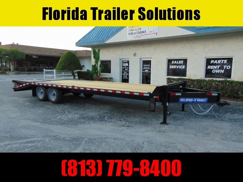 New Sure-Trac 8.5X20+5 LowPro Deckover 17.6k Equipment Trailer