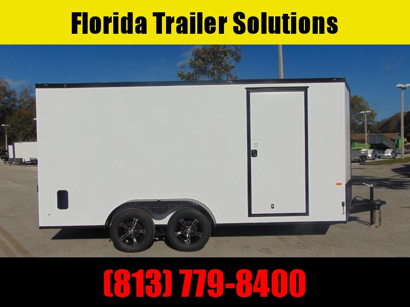 New Rock Solid Cargo 7X14TA 7k Enclosed Cargo Trailer w/7' Interior Height and Blackout Package