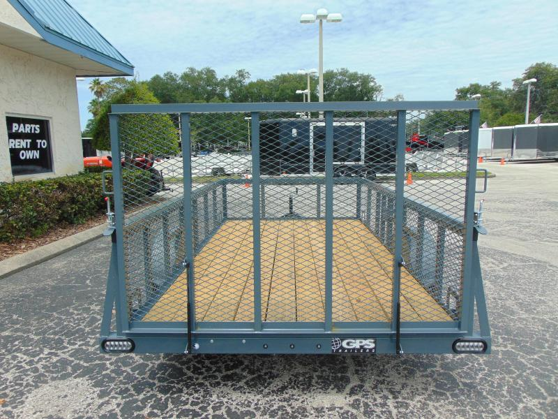New GPS Trailers 6X12 W/2' Mesh Sides Utility Trailer