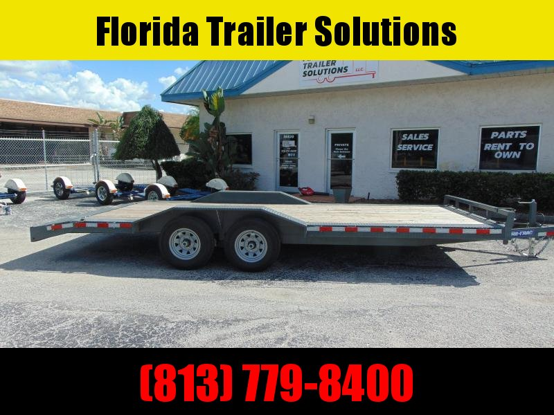 Pre-Owned Sure-Trac 8.5X20 (18+2) Drive Over Fender 10k Equipment Trailer