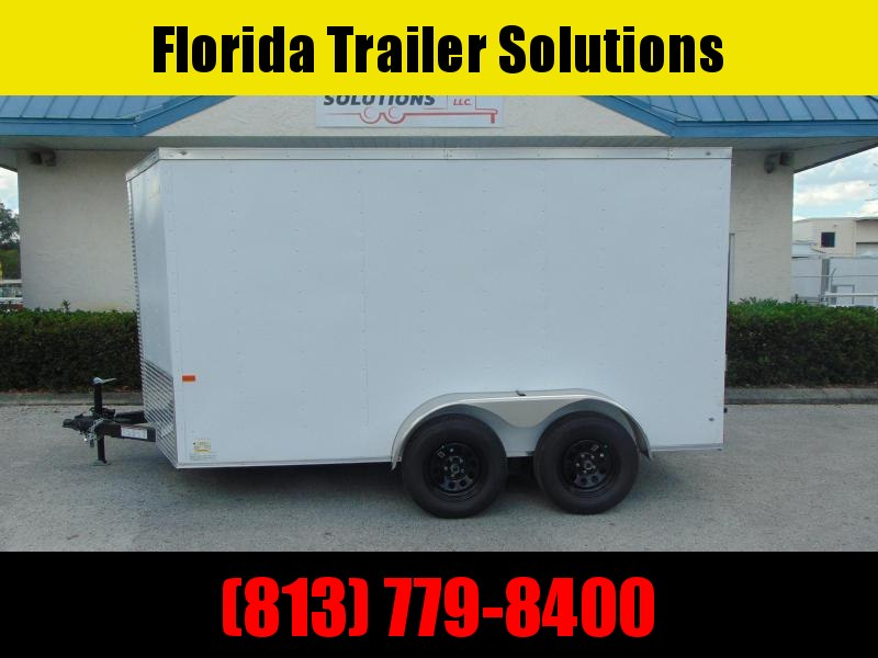 New Rock Solid Cargo 7X12 Tandem Axle 7K Enclosed Cargo Trailer